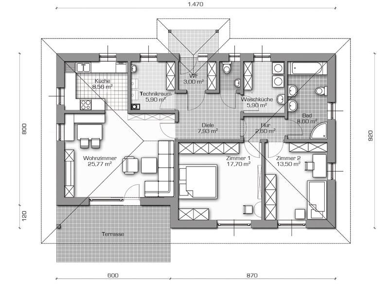 Rubin fischer fertighaus ihr holzbaumeister im burgenland for Hausplan einfamilienhaus